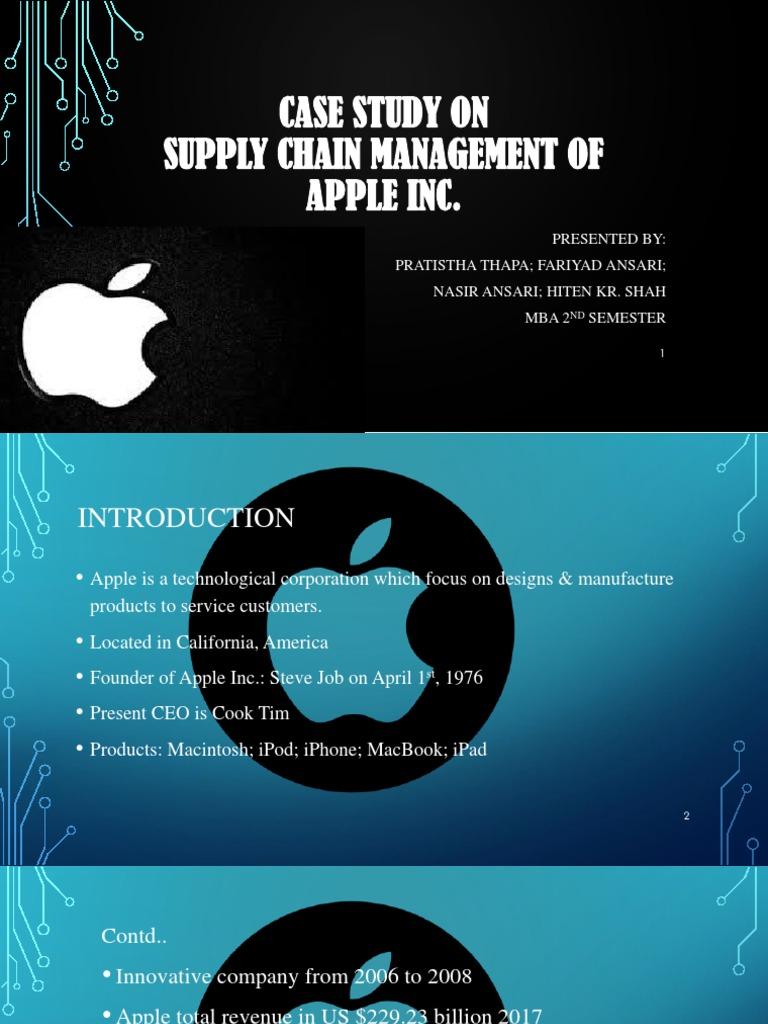 apple inc 2008 case study