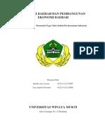 Otonomi Daerah Dan Pembangunan Ekonomi Daerah