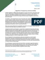 2017 Usacm Statement AI Algorithms