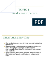 Topic 1- Introduction to Service