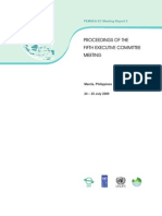 Proceedings of the Fifth Executive Committee Meeting