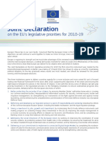 Joint Declaration Eu Legislative Priorities 2018 19 En
