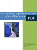 """AAC Basics and Implementation. How to teach students who """"talk with technology"""""""
