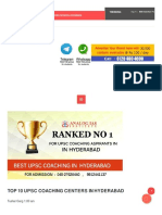 Best IAS coaching Hyderabad