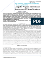 A Vba Based Computer Program for Nonlinear Fea of Large Displacement 2d Beam Structures