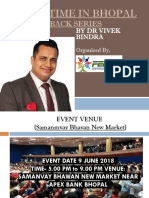 """Extreme Motivation Event """"BOUNCE BACK"""" By Dr. Vivek Bindra in Bhopal"""