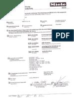 Miele TDB130WP Declaration of Conformity