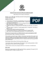 India GAAP Press Release Q1 FY09 10