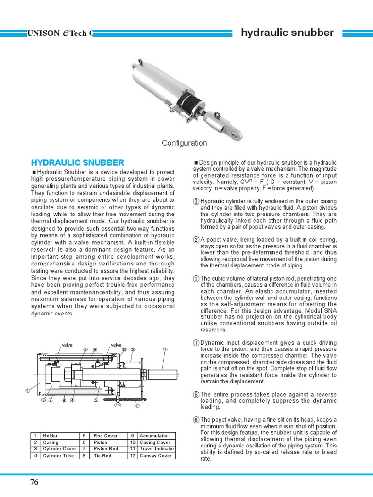 131769186-Hydraulic-Snubber pdf | Mechanical Engineering