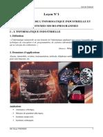 Chapitre 1 Presentation Informatique Industrielle Systemes Micro Programmes
