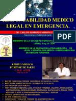 3. Responsabilidad Médico Legal en Emergencias - Dr. Carlos Chirinos Castro.ppt
