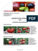 Seminte Tomate Primavara 2017