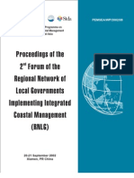 Proceedings of the 2nd Forum of the Regional Network of Local Governments Implementing Integrated Coastal Management (RNLG)