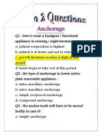 Orthodontic 2 Questions