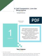 Violence, Self, Self Compassion, Love Dan Benevolence (Fadhilah Lutfiani-1571041016)