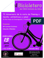 En el Bicicletero del CRAI... 70 aniversario de la visita de Fleming a Sevilla, antibióticos y salud