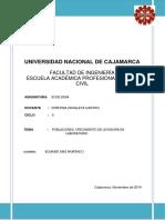 Informe de Ecologia de Levaduras