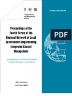 Proceedings of the Fourth Forum of the Regional Network of Local Governments Implementing Integrated Coastal Management