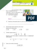 Teste 5ano Matemática