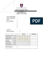 Level 0 -Lab Report Front Page 2018