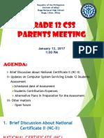 Grade 12 Css Parents Meeting