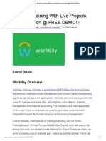 Workday Training With Live Projects & Certification @ FREE DEMO!!!