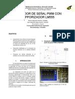 Lab Generador Señal PWM Temporizador LM555