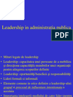 Leadership in Administratia Publica Pif