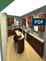 kitchen 3D render Perspective