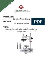 Uso del paralelómetro en la Prótesis Parcial Removible