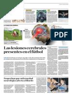 Las Lesiones Cerebrales Presentes en El Fútbol