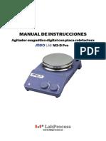 Manual - Agitador m2-d Pro - Argolab -Esp v 1.0 0