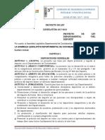 Proyecto de Ley Del Deporte Para Socailización