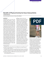 Benefits of Physical Activity for Knee Osteoartritis
