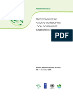 Proceedings of the National Workshop for Local Governments Implementing ICM in China