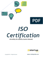 A Compact guide of ISO certification with quality process manual.