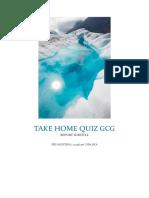 Take Home Quiz Gcg