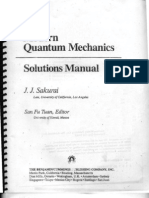 Sakurai - Modern Quantum Mechanics - Solutions Manual