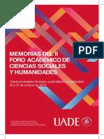 Memorias Del II Foro Académico de Ciencias Sociales y Humanidades