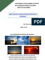 AULAS INICIAIS - Programao e Aspectos Gerais Da Espectroscopia