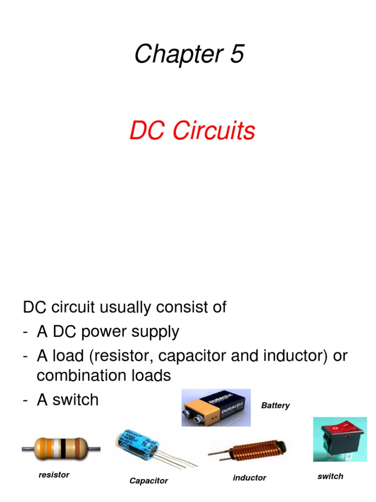 Ch5 Dc Circuits Series And Parallel Capacitor Capacitors In