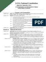 SEDS-USA Constitution