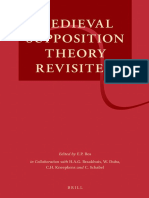 E. P. Bos, H. a. G. Braakhuis, W. Duba, C. H. Kneepkens, C. Schabel-Medieval Supposition Theory Revisited-Brill Academic Pub (2013)