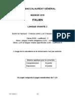 Bac S_ES_L 2018 Liban LV2 Italien