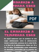 El Embarazo a Temprana Edad(Diapositivas)