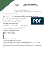 Sistemas de Equacoes Lineares2013