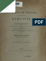 TeachingsofVedantaByRamanuja-Sukhantkar