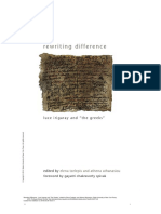 """Elena Tzelepis and Athena Athanasiou (Eds.) - Rewriting Difference - Luce Irigaray and """"the Greeks"""""""