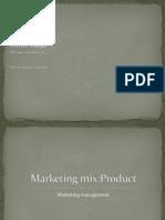 Marketing Mix...Productt