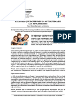 Factores Que Destruyen La Autoestima en Los Adolescentes